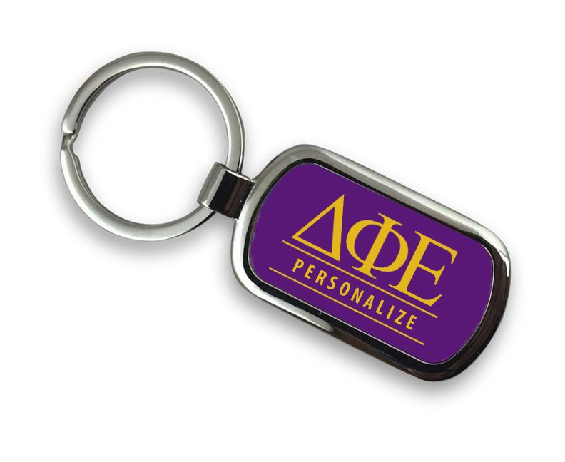 Delta Phi Epsilon Chrome Key Chain