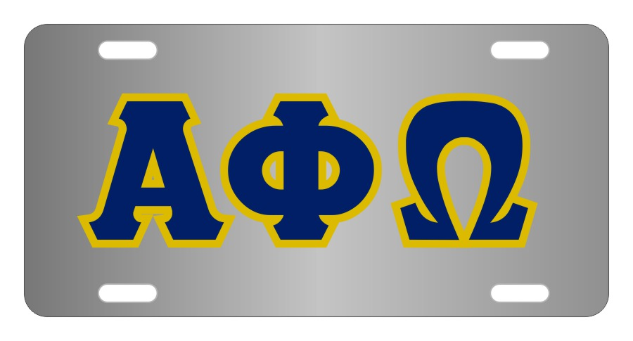 Alpha Phi Omega Fraternity License Plate Cover