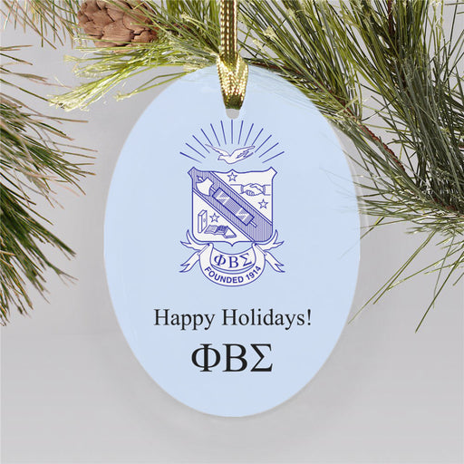 Phi Beta Sigma Color Crest Ornament