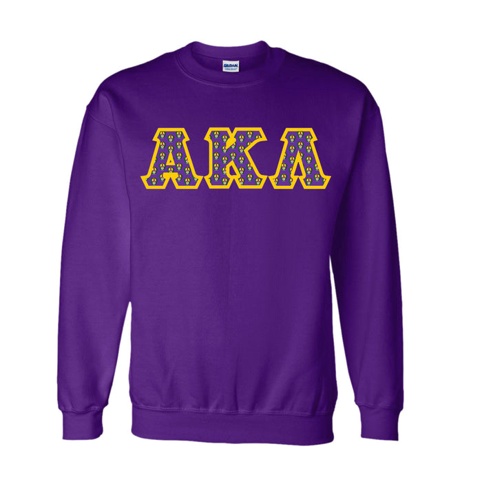 Alpha Kappa Lambda Classic Colors Sewn-On Letter Crewneck