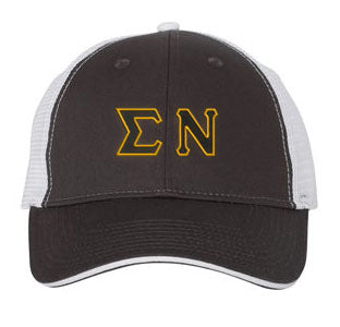 Sigma Nu Greek Trucker Cap