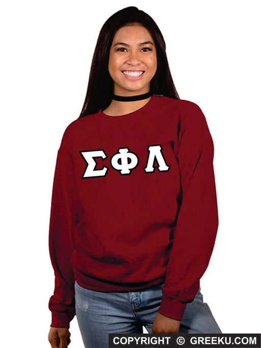 Sigma Phi Lambda Classic Colors Sewn-On Letter Crewneck