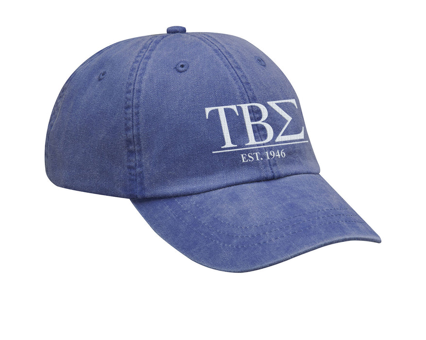 Tau Beta Sigma Letters Year Embroidered Hat