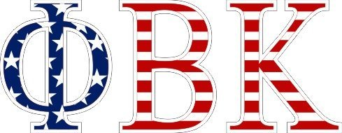 Phi Beta Kappa American Flag Letter Sticker - 2.5