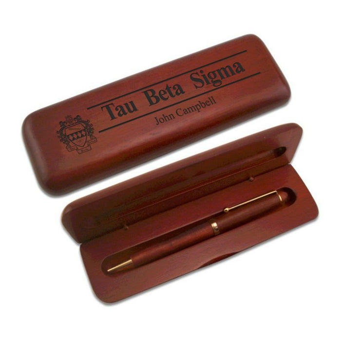 Tau Beta Sigma Wooden Pen Case & Pen