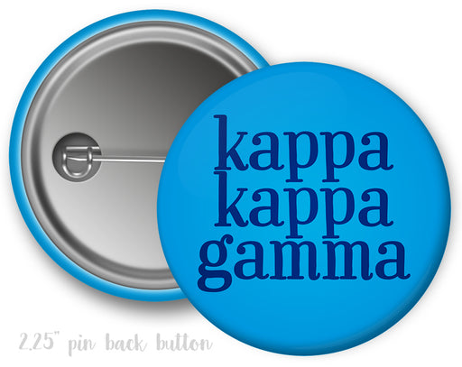 Kappa Kappa Gamma Simple Text Button
