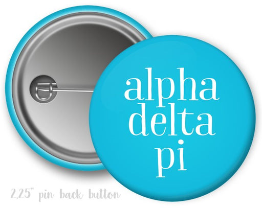 Alpha Delta Pi Simple Text Button