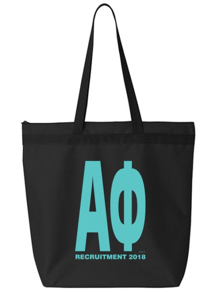 Impact Letters Zippered Poly Tote