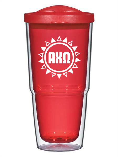 Sun Triangles 24oz Tumbler with Lid