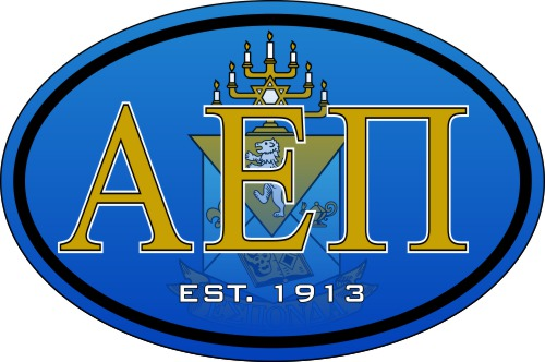 Alpha Epsilon Pi Color Oval Decal