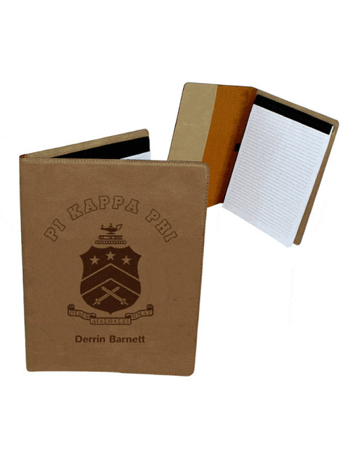 Pi Kappa Phi Leatherette Portfolio with Notepad