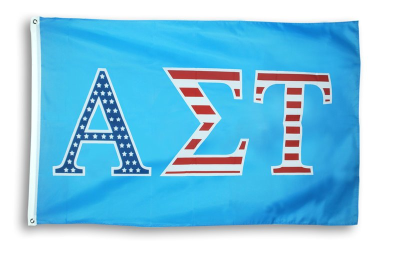 Alpha Sigma Tau Patriotic Flag