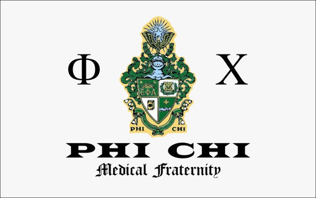 Phi Chi Fraternity Flag Sticker
