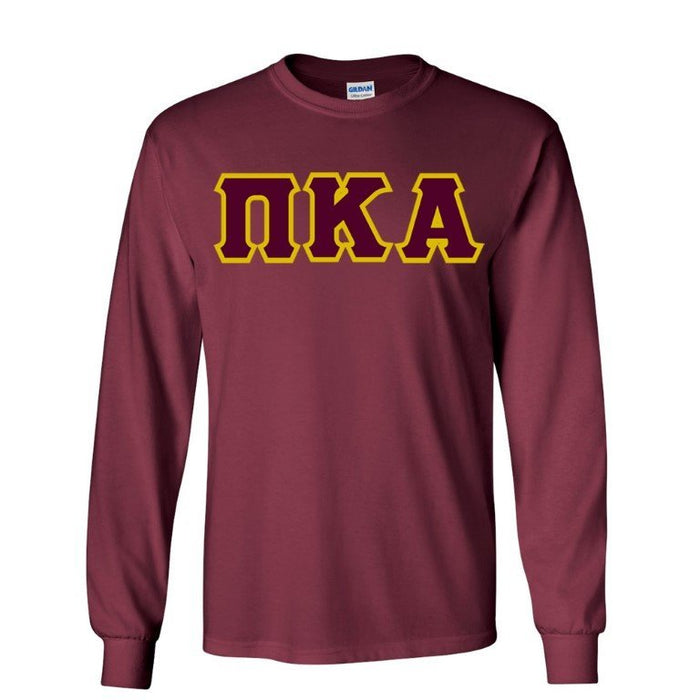 Pi Kappa Alpha Long Sleeve Greek Lettered Tee