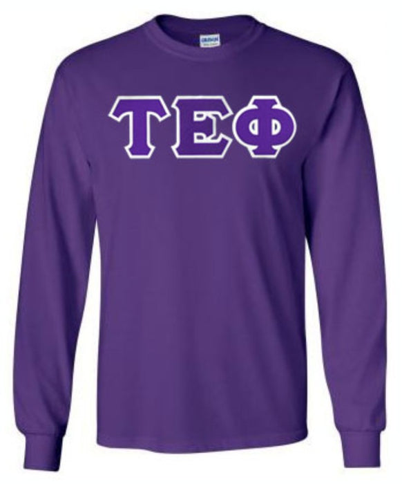 Tau Epsilon Phi Long Sleeve Greek Lettered Tee