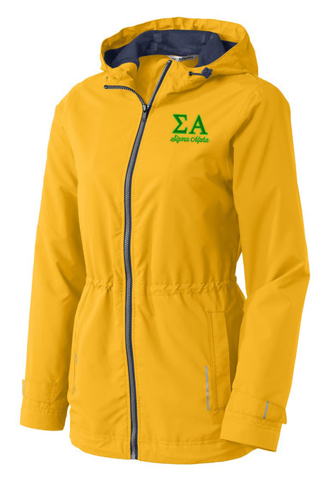 Sigma Alpha Embroidered Ladies Northwest Slicker