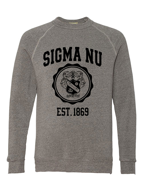 Sigma Nu Alternative Eco Fleece Champ Crewneck Sweatshirt