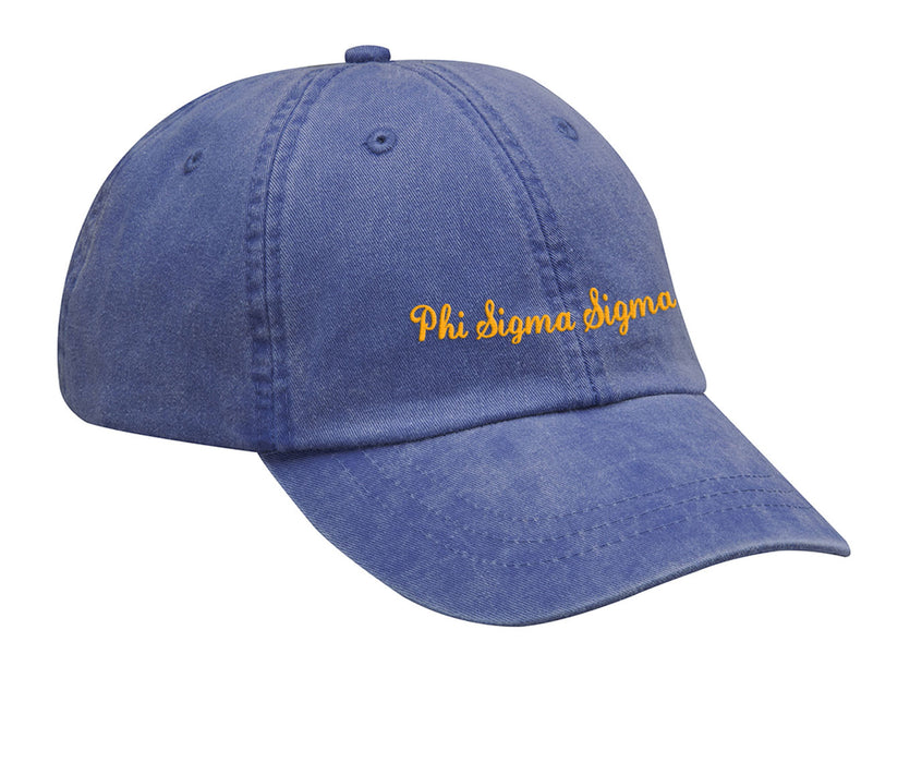 Phi Sigma Sigma Cursive Embroidered Hat