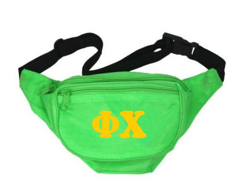 Phi Chi Fanny Pack Letters Layered Fanny Pack