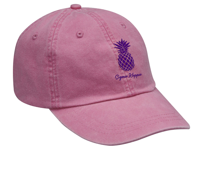 Sigma Kappa Pineapple Embroidered Hat
