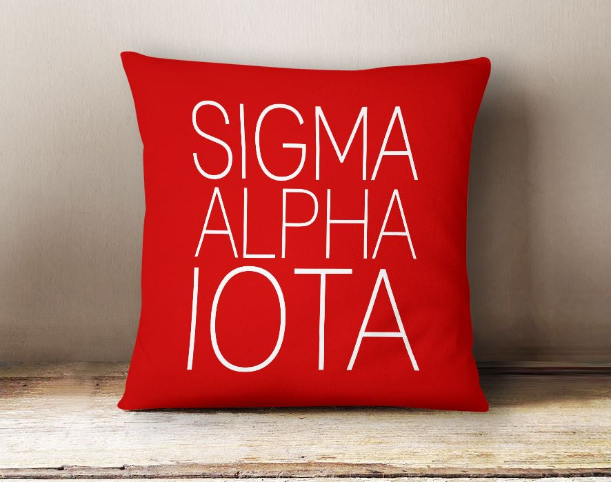 Sigma Alpha Iota Simple Text Throw Pillow