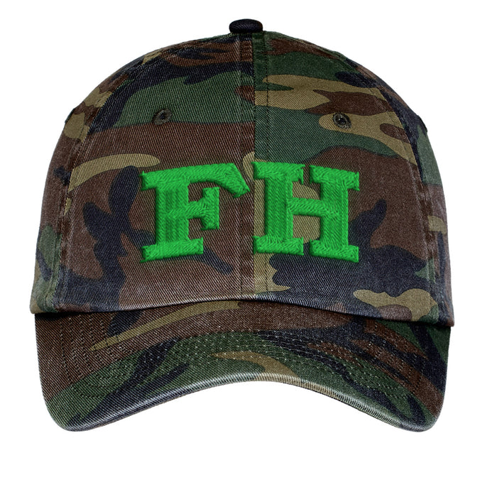Farmhouse Letters Embroidered Camouflage Hat