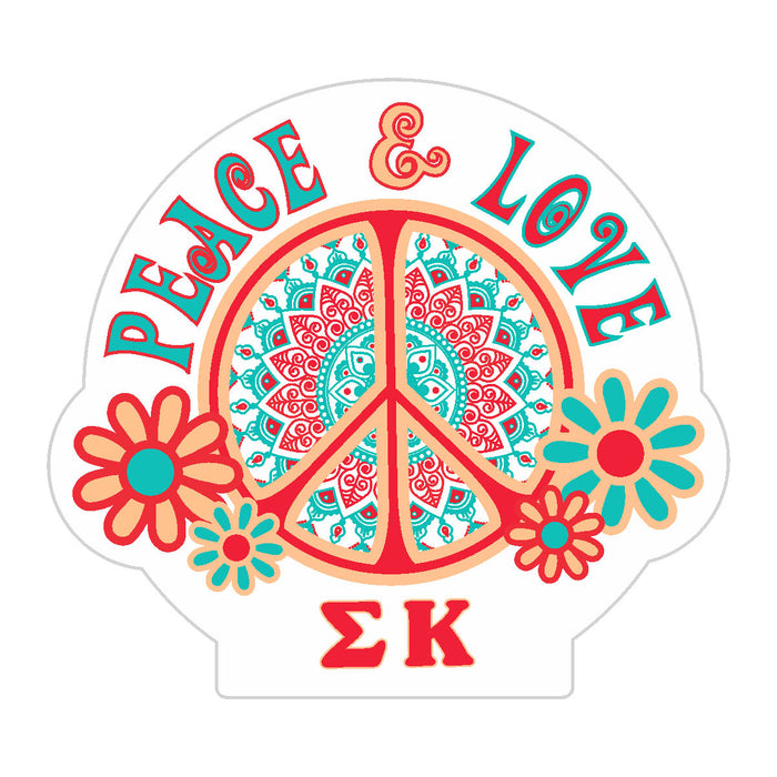Sigma Kappa Peace Sticker