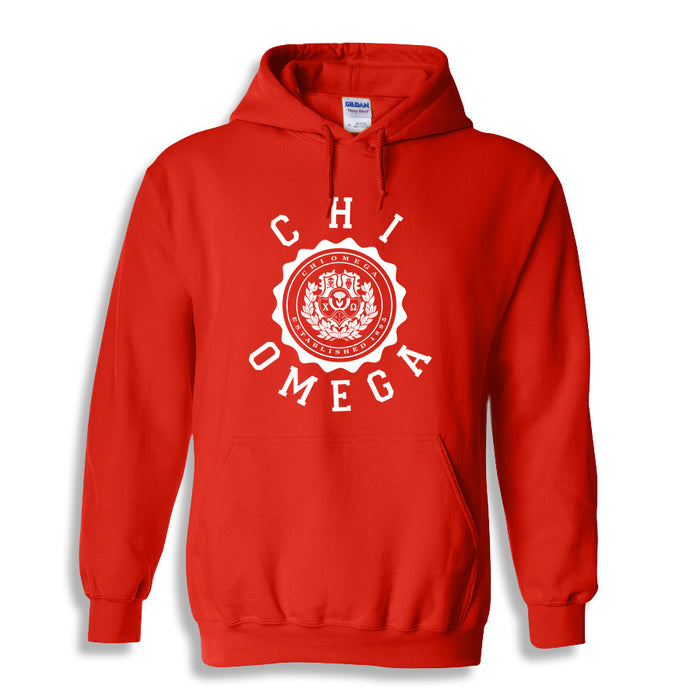 Chi Omega World Famous Seal Crest Hoodie