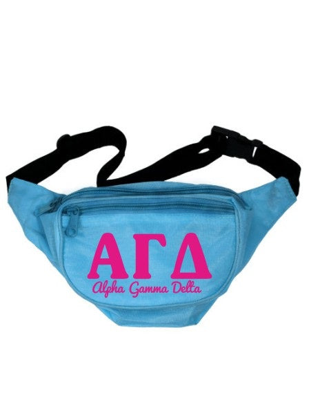 Alpha Gamma Delta Letters Layered Fanny Pack