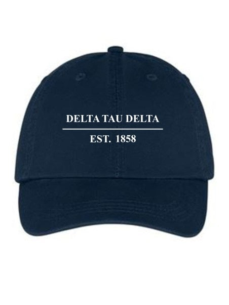 Delta Tau Delta Line Year Embroidered Hat