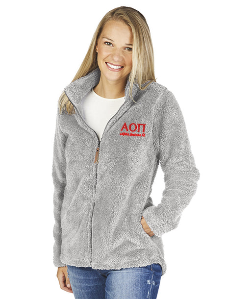 Alpha Omicron Pi Newport Full Zip Fleece Jacket
