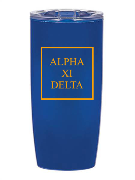 Alpha Xi Delta Box Stacked 19 oz Everest Tumbler