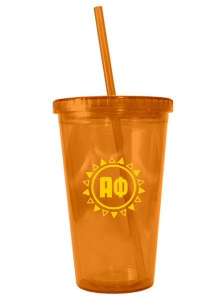 Alpha Phi Sun Triangles 16 oz Acrylic Tumbler