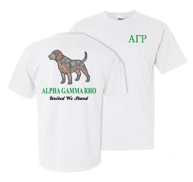Alpha Gamma Rho Stand Tall Comfort Colors Heavy Tee