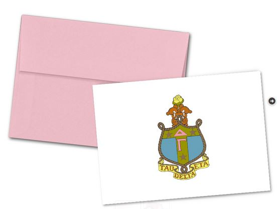 Delta Gamma Color Crest Notecards 6 35 Sorority Crest Note Cards