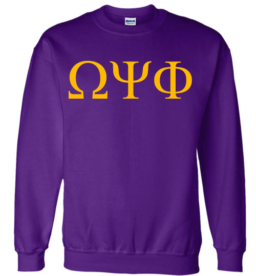 Omega Psi Phi World Famous Lettered Crewneck Sweatshirt