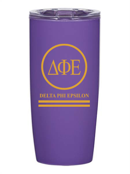Delta Phi Epsilon Circle Stripes 19 oz Everest Tumbler