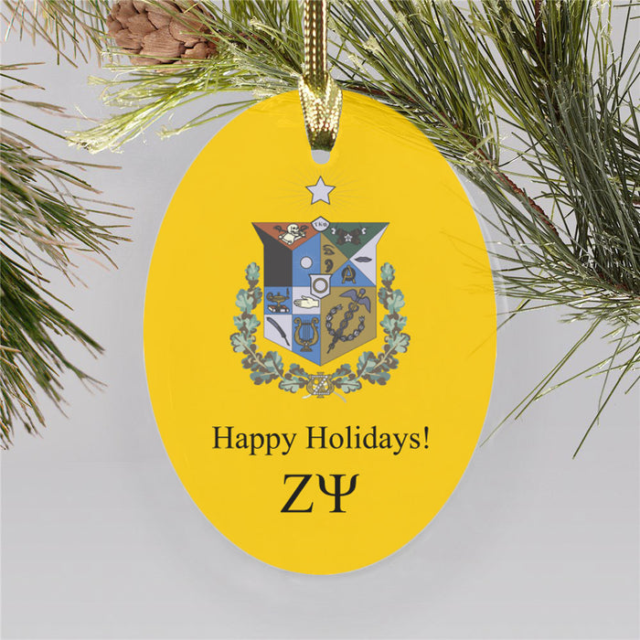 Zeta Psi Color Crest Ornament