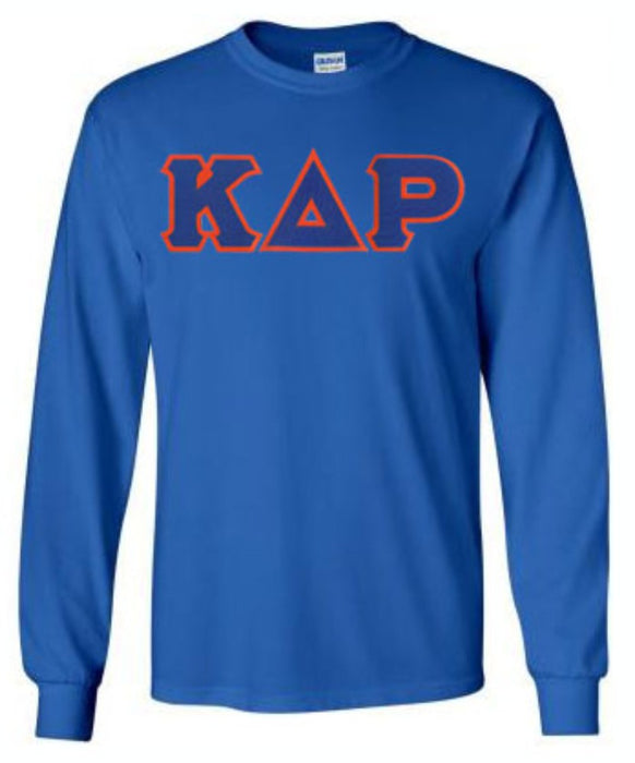 Kappa Delta Rho Long Sleeve Greek Lettered Tee
