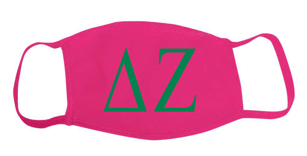 Delta Zeta Face Mask With Big Greek Letters