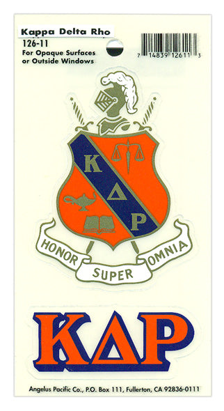 Kappa Delta Rho Crest Decal
