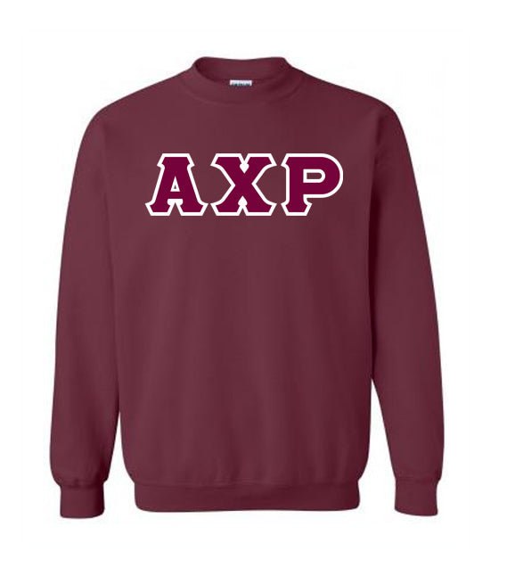 Alpha Chi Rho Classic Colors Sewn-On Letter Crewneck