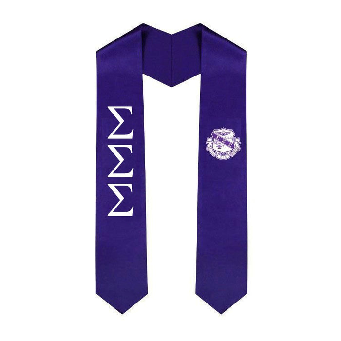 Sigma Sigma Sigma Lettered Graduation Sash Stole with Crest