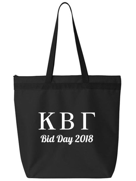 Kappa Beta Gamma Roman Letters Event Tote Bag