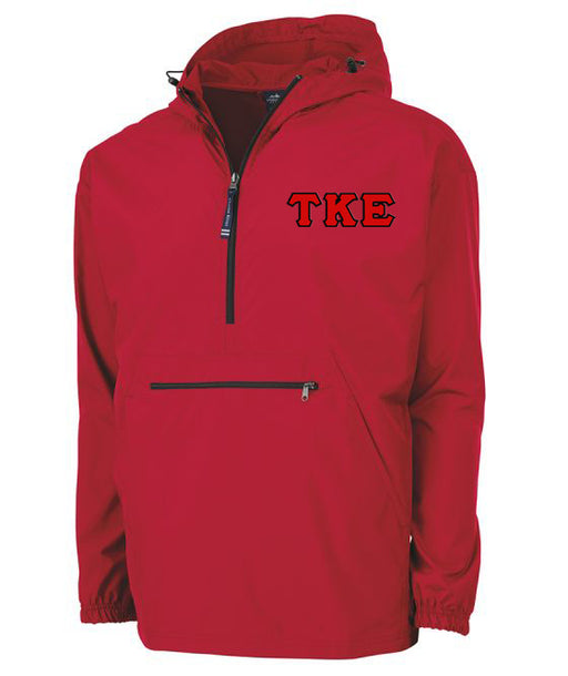 Tau Kappa Epsilon Embroidered Pack and Go Pullover
