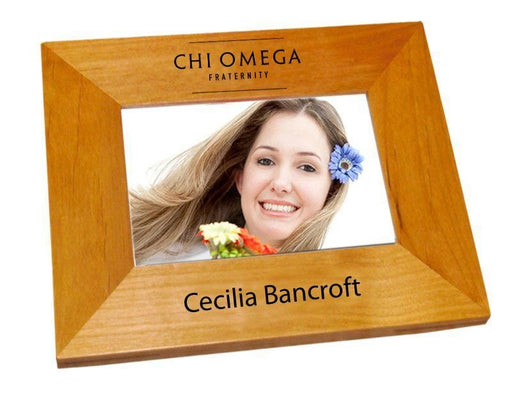Chi Omega Wood Picture Frame