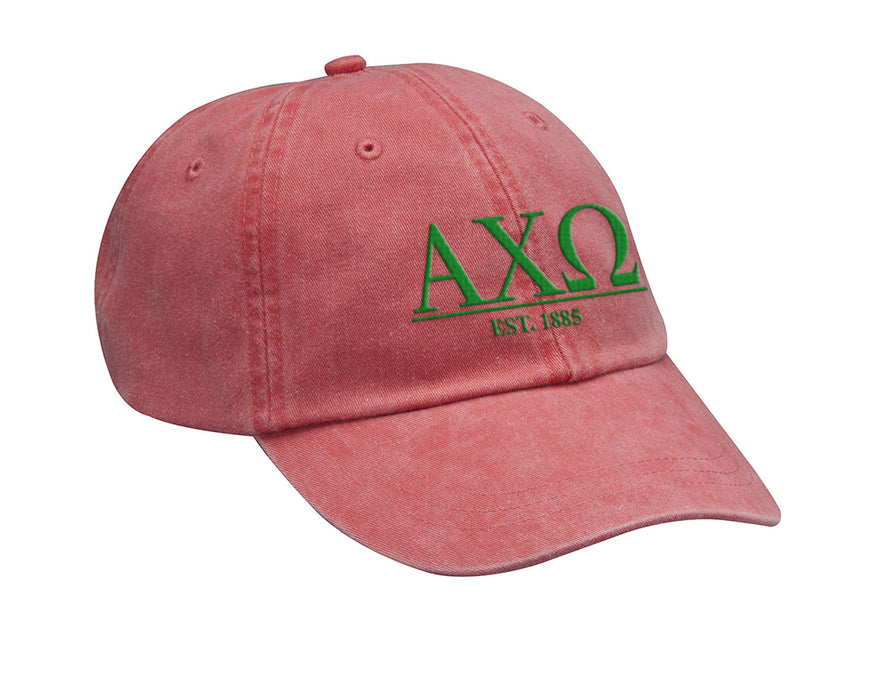 Alpha Chi Omega Letters Year Embroidered Hat