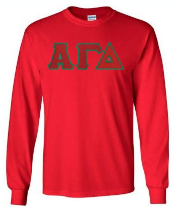 Alpha Gamma Delta Long Sleeve Greek Lettered Tee