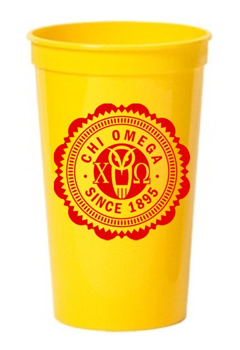 Chi Omega Classic Oldstyle Giant Plastic Cup