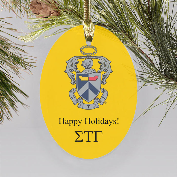 Sigma Tau Gamma Color Crest Ornament